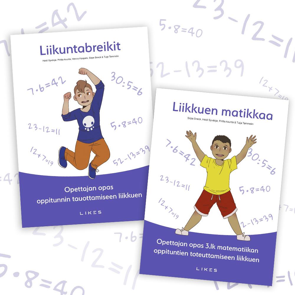 Liikuntabreikit- ja Liikkuen matikkaa -oppaat